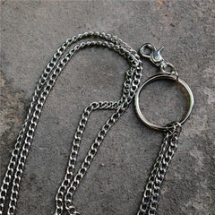 Badass Silver Double Womens Mens Thin Wallet Chain Pants Chain jeans chain jean chain For Men