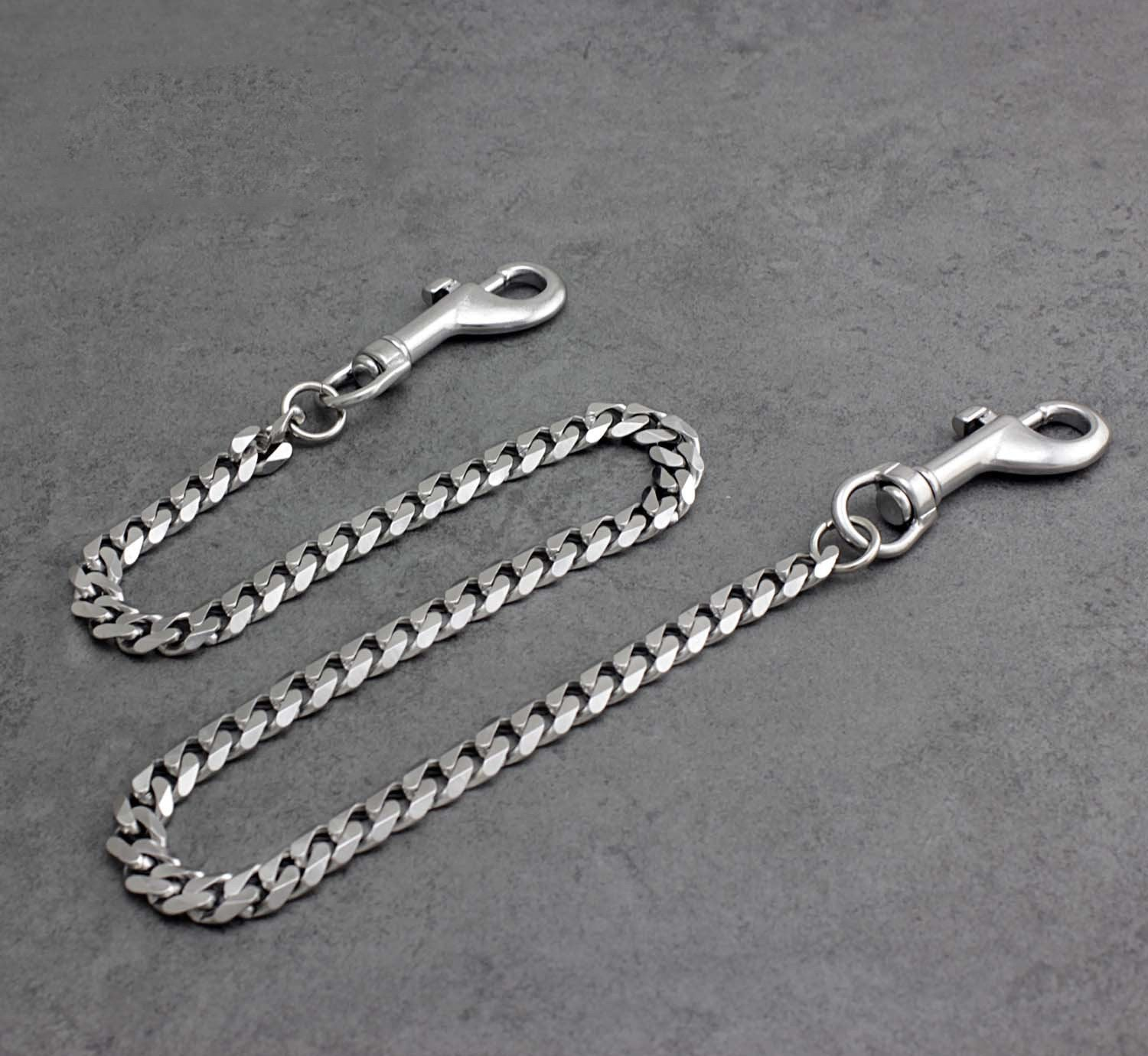 Cool Silver Mens Long Biker Wallet Chain Pants Chain STAINLESS STEEL jeans chain jean chain For Men