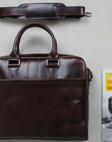 Vintage leather men Briefcase coffee shoulder laptop Briefcase vintage Briefcase