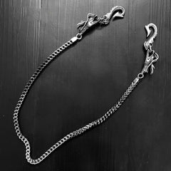 Cool Silver Dragon Steel Pants Chain Wallet Chain Long Biker wallet Chain For Men