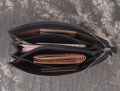 LEATHER MENS Wristlet Wallet Zipper Clutch FOR MEN