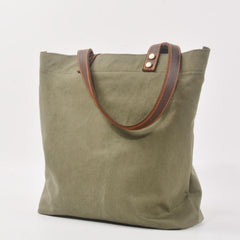 Green Large Canvas Womens Mens Tote Bag Shoulder Bag Tote Purse For Women