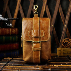 Vintage Leather Cigarette Cases Belt Pouch for Men Waist Bag BELT BAG For Men