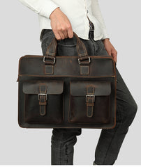 Leather Vintage Mens Briefcase Lawyer Briefcases Laptop Briefcase Business Briefcase For Men