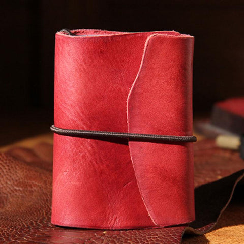 Handmade Leather Mens Card Holder Small Card Wallet for Women