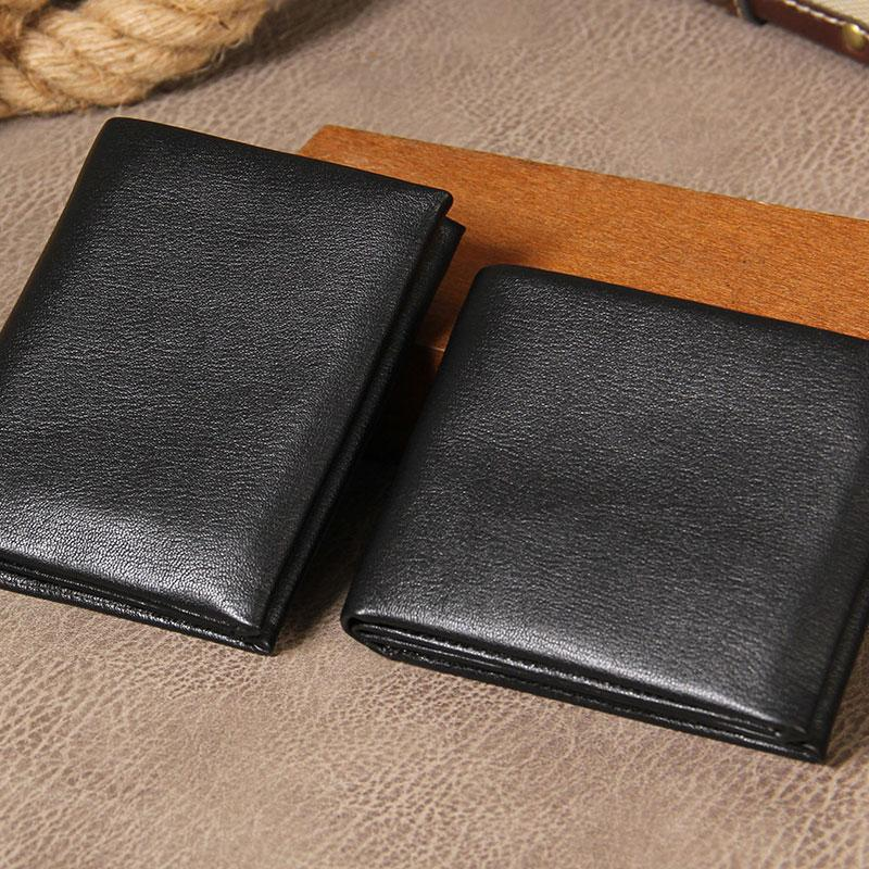 8a368ae152ef Leather Mens Black Small Leather Wallet Men Small Wallets Bifold for Men