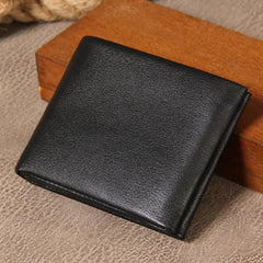 71d3798f5a45 ... Leather Mens Black Small Leather Wallet Men Small Wallets Bifold for Men  ...