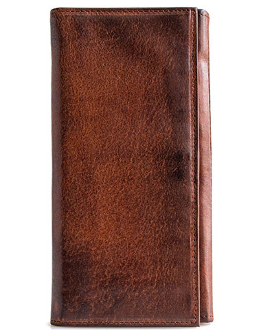 Handmade leather long wallet leather men phone clutch vintage wallet for men