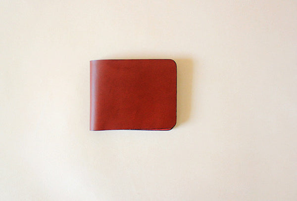 Handmade fashion red cute leather short ID card holder bifold wallet for women/lady girl