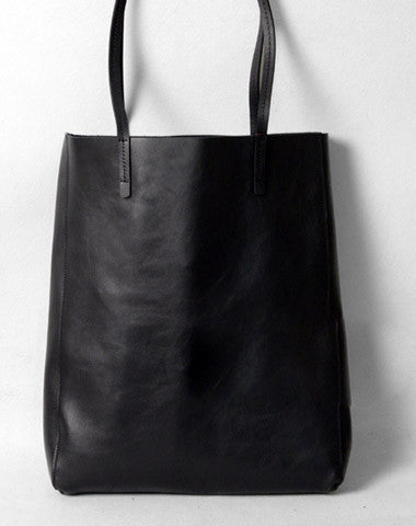 e3eb1b3498 Handmade modern vintage leather big black coffee tote bag shoulder bag