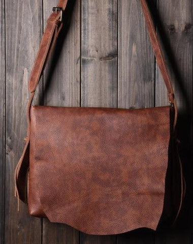 Cool leather mens messenger Bag Vintage Shoulder Laptop Bag for Men