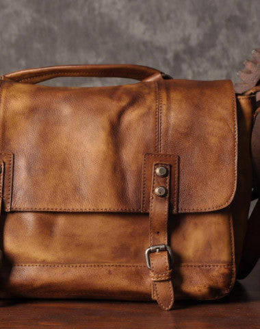 Handmade leather men messenger Bag Cool Shoulder Bags Travel Messenger Bags