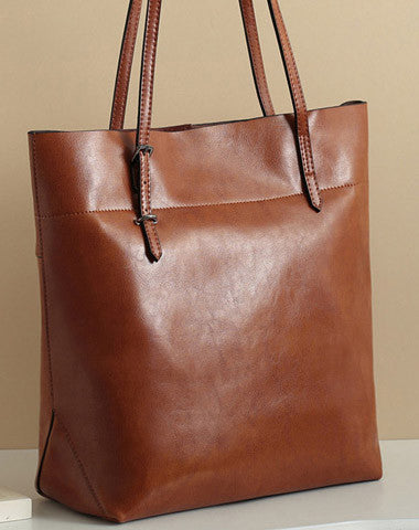 Handmade Leather tote bag shoulder bag red brown black for women leather shopper Shoulder bag