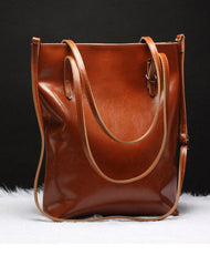 Handmade Leather tote bag shoulder bag brown black for women leather shopper Shoulder bag