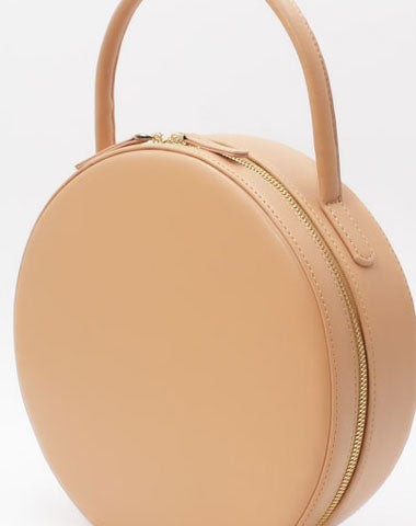 Genuine Leather round circle bag handbag bag for women leather purse shopper bag