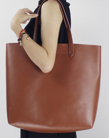 5ccdd11d4b2 Genuine Leather handbag shoulder bag large tote for women leather shopper  bag