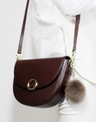 Genuine Leather Saddle Purse Bag Shoulder Bag for Women Leather Crossbody Bag