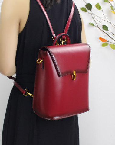 Genuine Leather backpack bag shoulder bag black brown for women leather crossbody bag