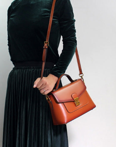 GENUINE LEATHER BAG HANDBAG PURSE SHOULDER BAG FOR WOMEN LEATHER CROSSBODY BAG
