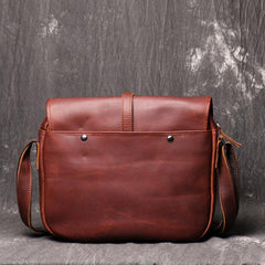 Maroon Cool Leather 10 inches Brown Messenger Bag Side Bag Courier Bag For Men