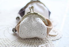 Handmade cute womens leather small change coin wallet pouch purse for women