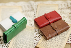 Handmade sweet cute pretty leather small keys wallet pouch purse for women/lady girl
