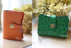 Handmade sweet pretty modern leather small cards wallet pouch purse for women/lady girl