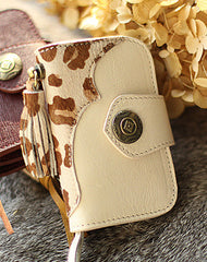 Handmade modern pretty beautiful leather small keys wallet pouch purse for women/lady girl