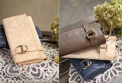 Handmade pretty modern accordion leather long iphone bifold wallet for women/lady girl