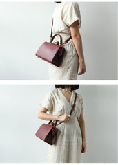 Stylish LEATHER WOMEN Doctor Handbag SHOULDER BAG Crossbody Purse FOR WOMEN