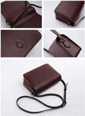 Minimalist Leather Womens Stylish Messenger Crossbody Bag Purse Shoulder Bag for Women