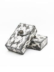 Cool Handmade Leather Mens Snake Skin Cigarette Holder Case for Men