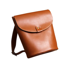 Fashion LEATHER Brown WOMEN Backpack Purses School Backpack FOR WOMEN