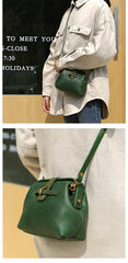 Vintage Womens Green Leather Doctor Shoulder Bag Side Purses Doctor Crossbody Purses for Women