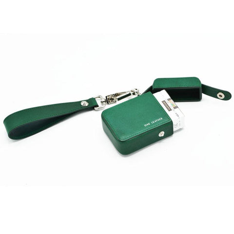 Cute Green Leather Womens 20pcs Cigarette Holder Case Wristlet Cigarette Case for Women