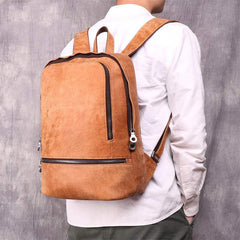 Vintage Leather Men's 13inch Computer Backpack Travel Backpack For Men