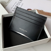 Women Black Leather Card Holders Small Card Wallet Minimalist Credit Card Holder For Women
