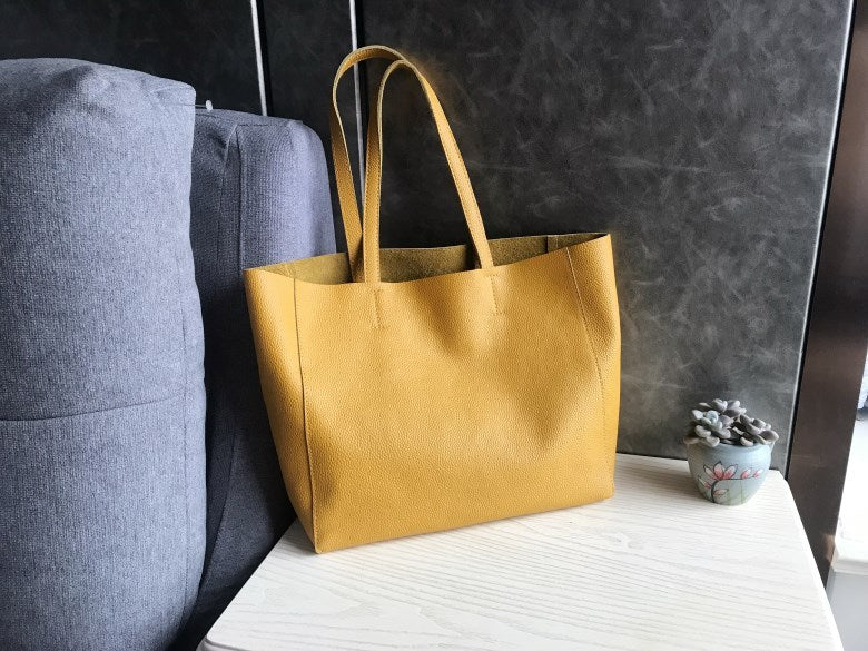 Fashion Womens Black Leather Oversize Tote Bags Black Shoulder Tote Bag Handbag Tote For Women
