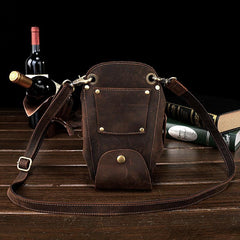 Cool Leather Waist Belt Pouch Mens Hairstylist Tool Barber Pouch Scissor Case for Men