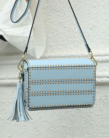 Genuine Leather crossbodybag rivet shoulder bag for women leather bag