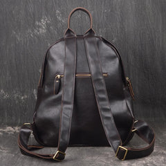 Vintage Leather Brown Men's Backpack Computer Backpack College Backpack For Men