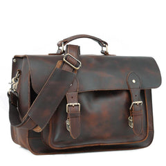Vitnage Brown Leather Men's Camera Messenger Bag SLR SIDE BAG Camera Handbag For Men
