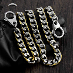 18'' SOLID STAINLESS STEEL BIKER SILVER GOLD WALLET CHAIN LONG PANTS CHAIN JEAN CHAIN FOR MEN