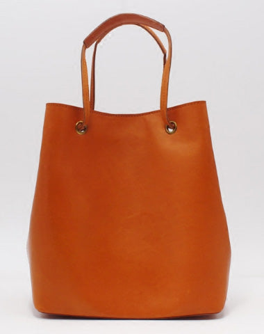 HANDMADE LEATHER TOTE PURSE BUCKET BAG HANDBAG SHOULDER BAG LARGE FOR WOMEN LEATHER SHOPPER BAG