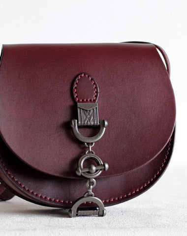 Handmade Leather vintage women leather shoulder bag crossbody bag