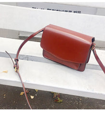 Red Leather Womens Shoulder Bag Purse Crossbody Bag For Women