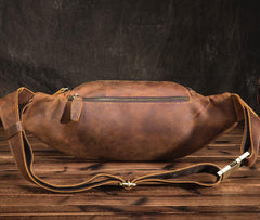 Black Brown MENS LEATHER FANNY PACK FOR MEN BUMBAG Vintage WAIST BAGS