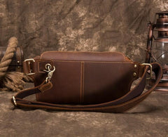 Retro Brown LEATHER MENS FANNY PACK FOR MEN BUMBAG Vintage WAIST BAGS