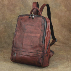 Vintage Leather Men's Backpack 13'' Laptop Backpack School Backpack For Men