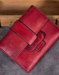 Genuine Leather Wallet Vintage Short Wallet Purse For Men Women